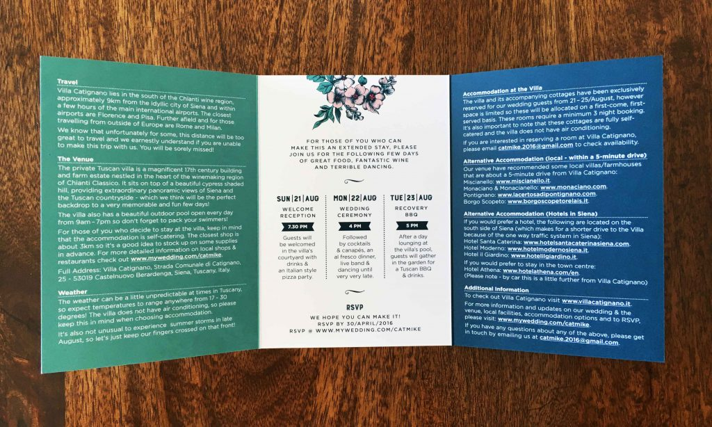 Einladungsdesign
